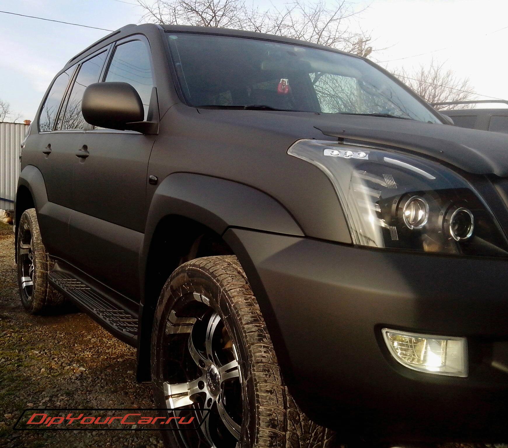 Черный PLASTI DIP на джип Toyota