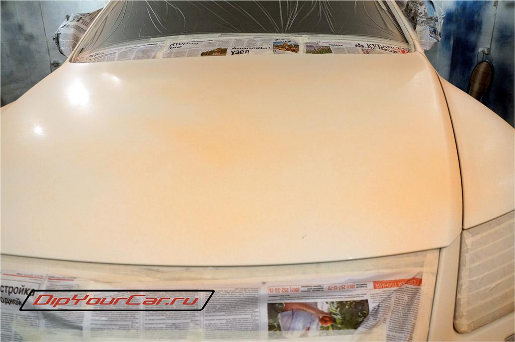 жидкая резина plasti dip blaze orange на автомобиле первый слой