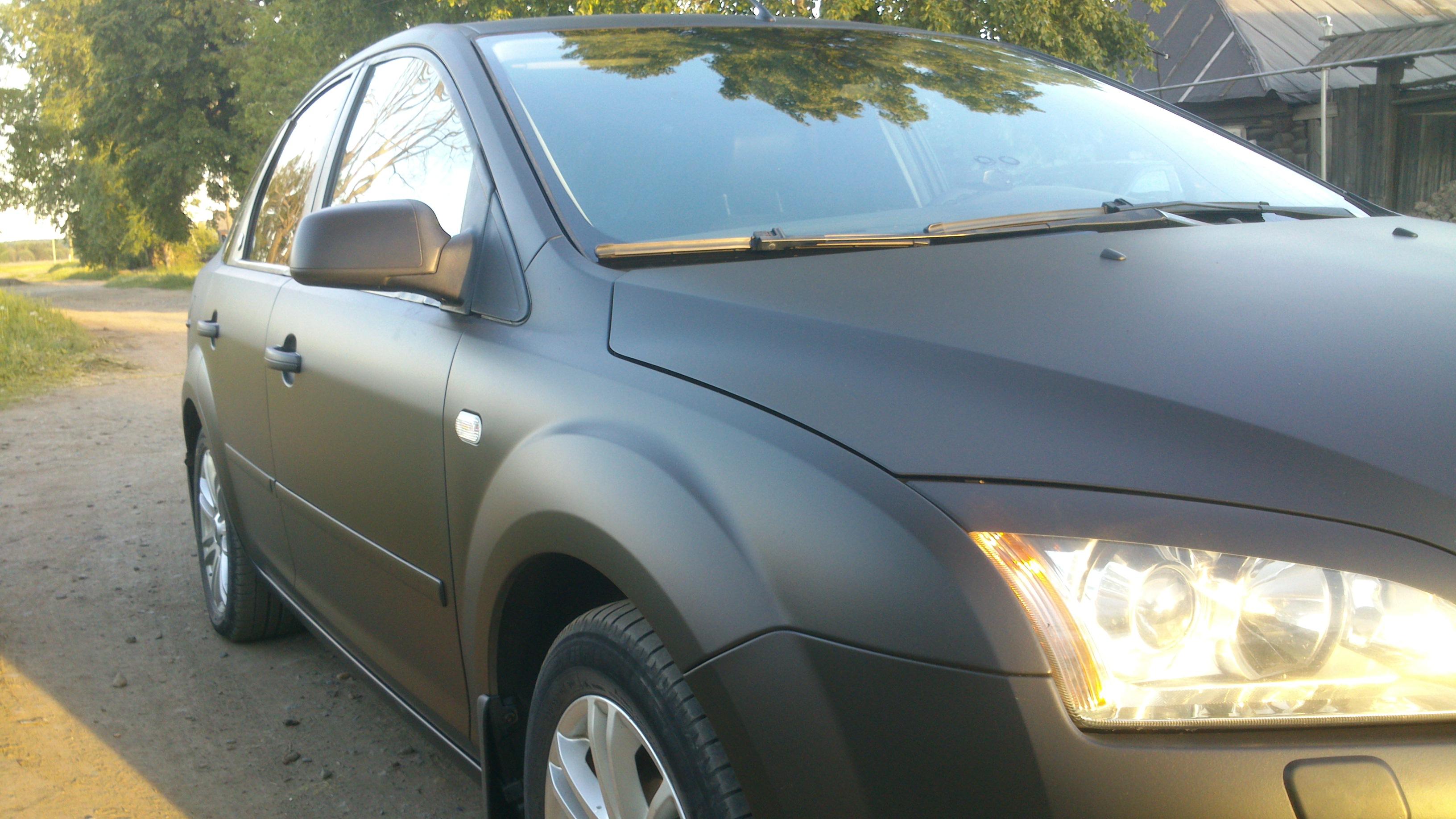 Черный матовый пластидип. Покраска автомобиля