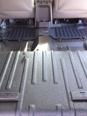 Герметичный пол автомобиля после резины PLASTI DIP