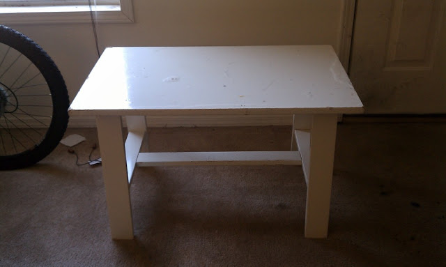 Первоначальный вид стола без обработки Plasti Dip