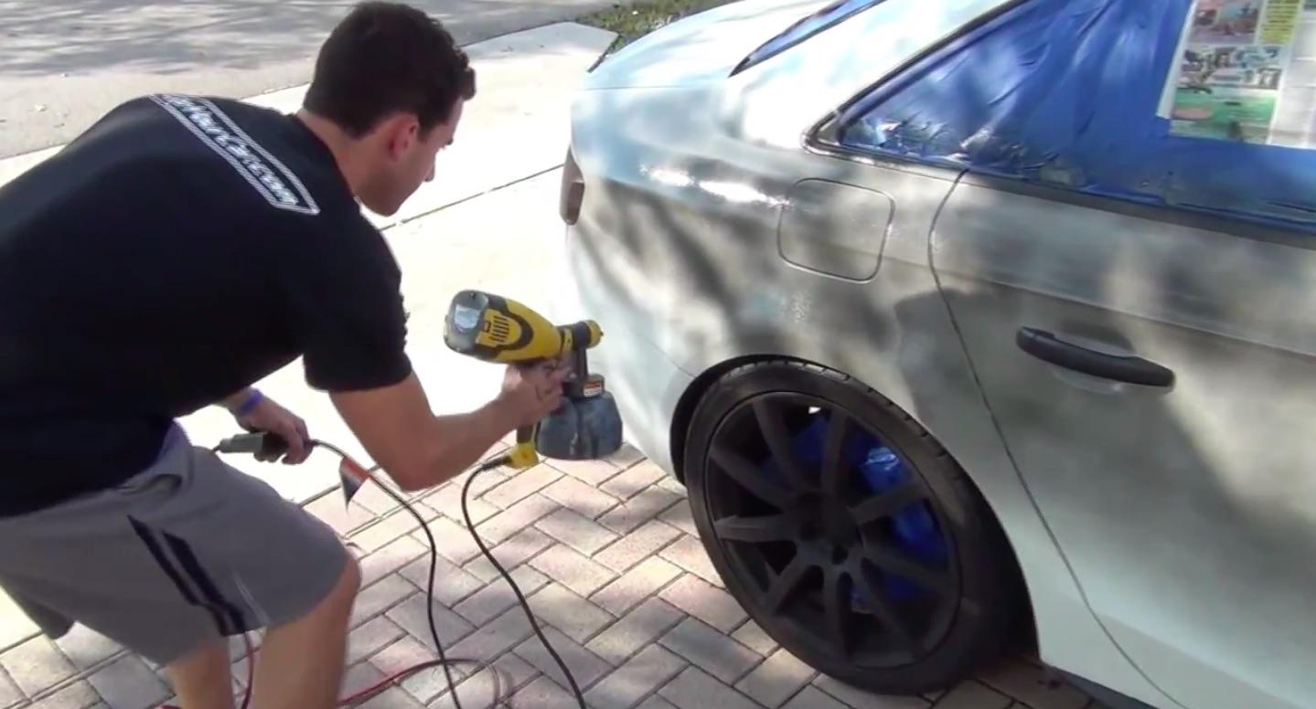 Покраска авто жидкой резиной (plasti dip технология)