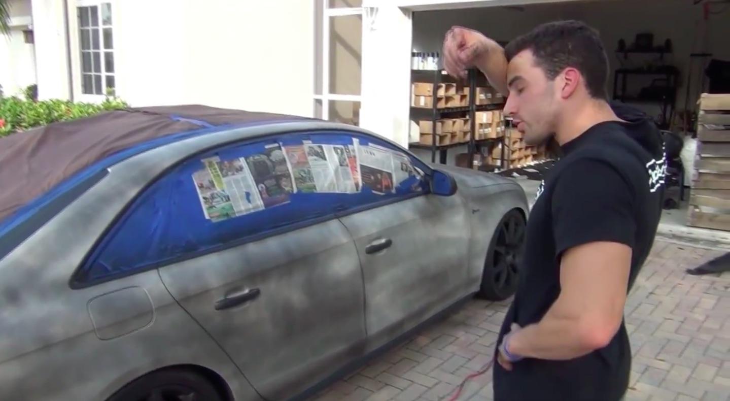 Покраска авто резиновой краской своими руками