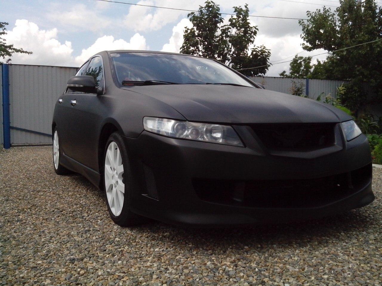 Фото покраски в черный PLASTI DIP Honda Accord