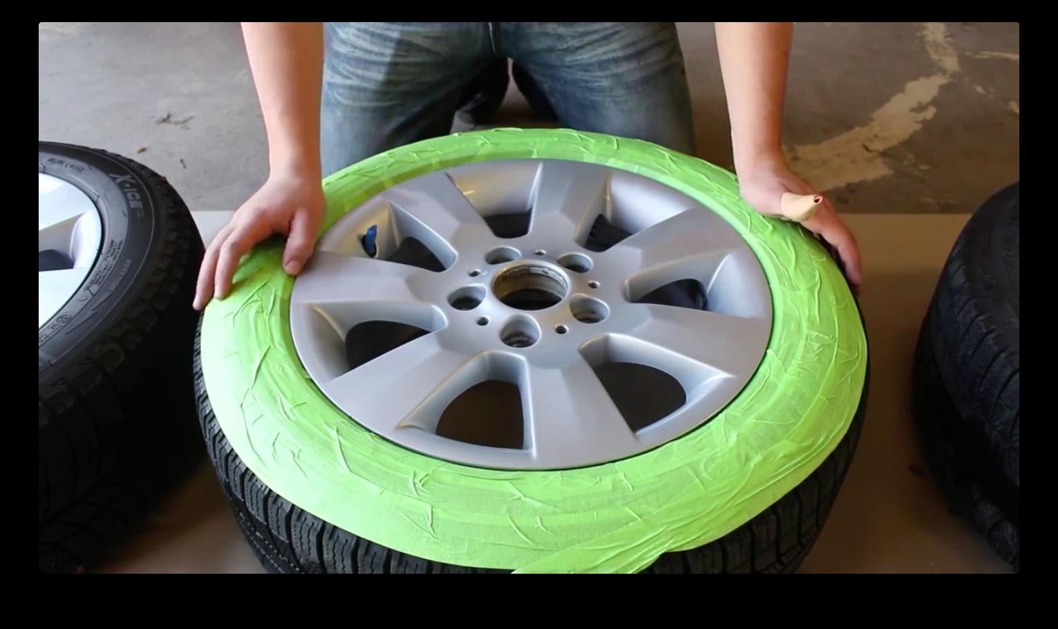 Как покрасить диски жидкой резиной
