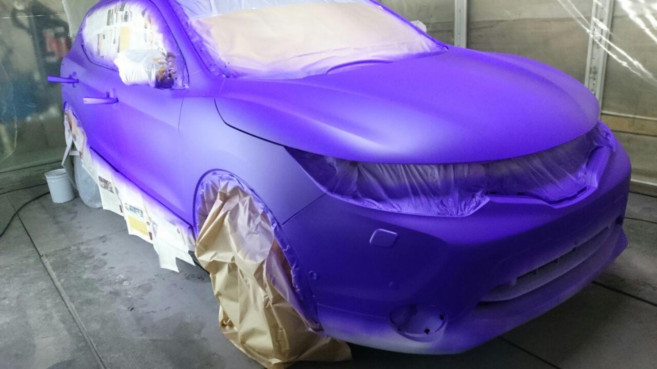 Покраска Nissan Qashqai жидкой резиной Plasti Dip Purple Blaze