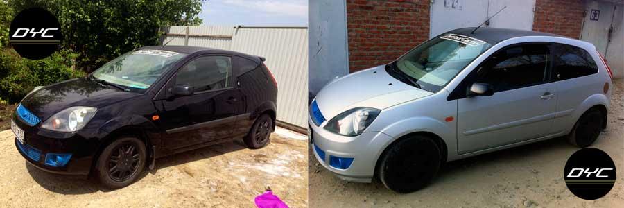 Фото автомобиля до и после покраски жидкой резиной